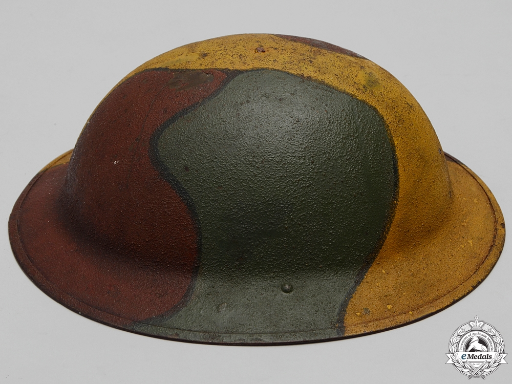 A First War American Manufactured M1917 Camouflage Helmet