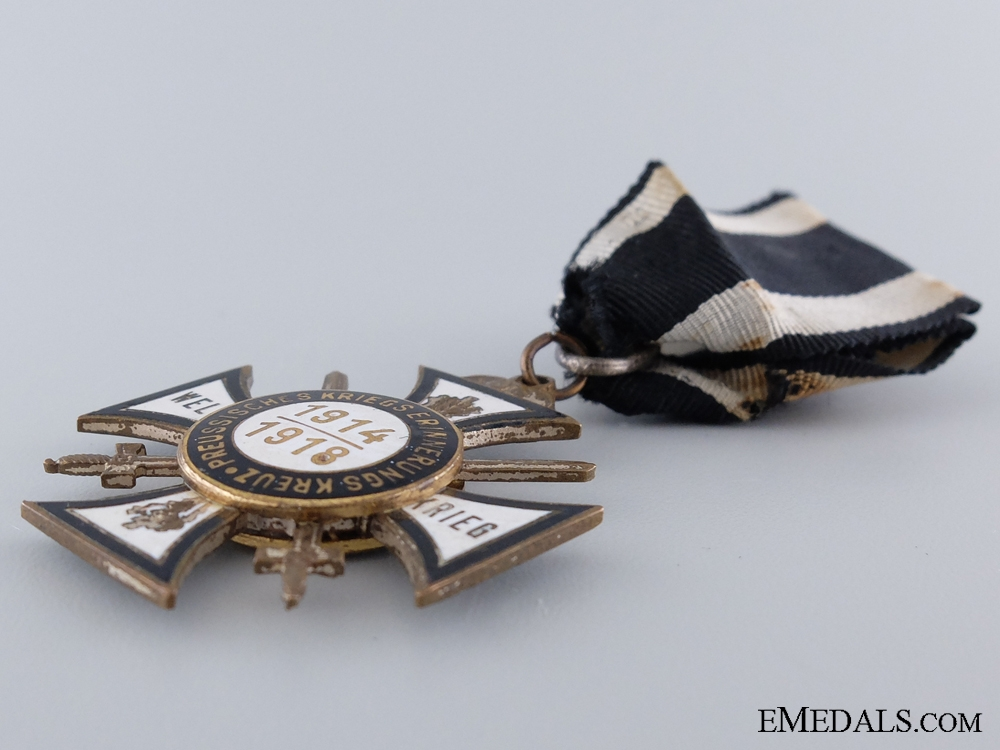 Commemorative War Cross for Combatants with Swords of the Union of Prussian War Participants 1914-1918