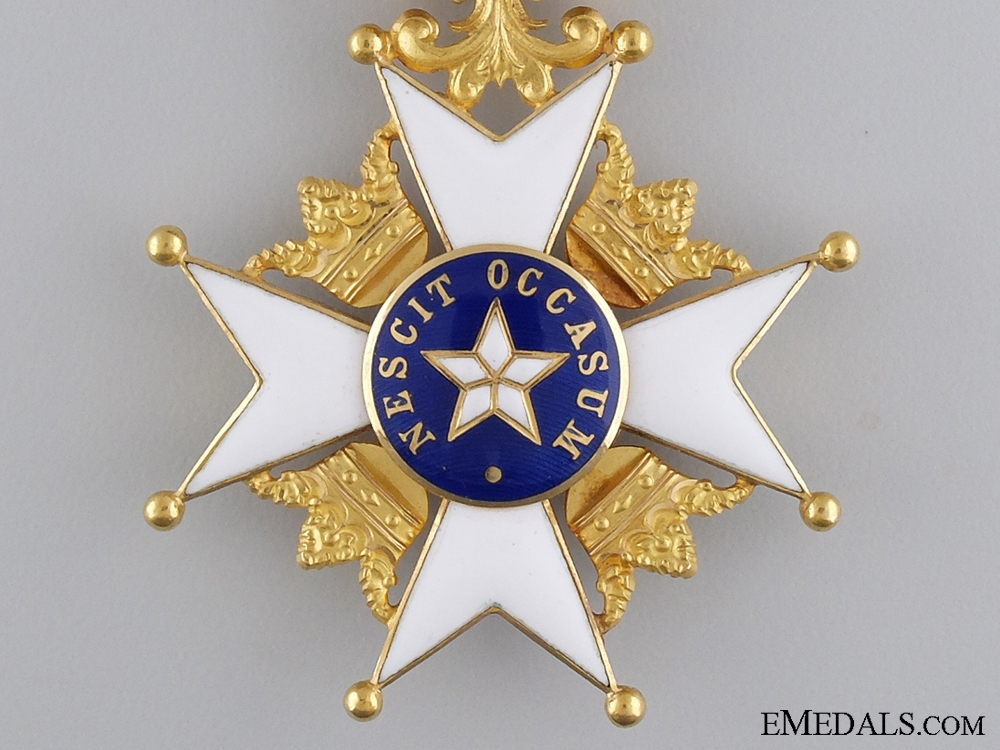 An Order of the North Star in Gold; First Class Knight's Cross