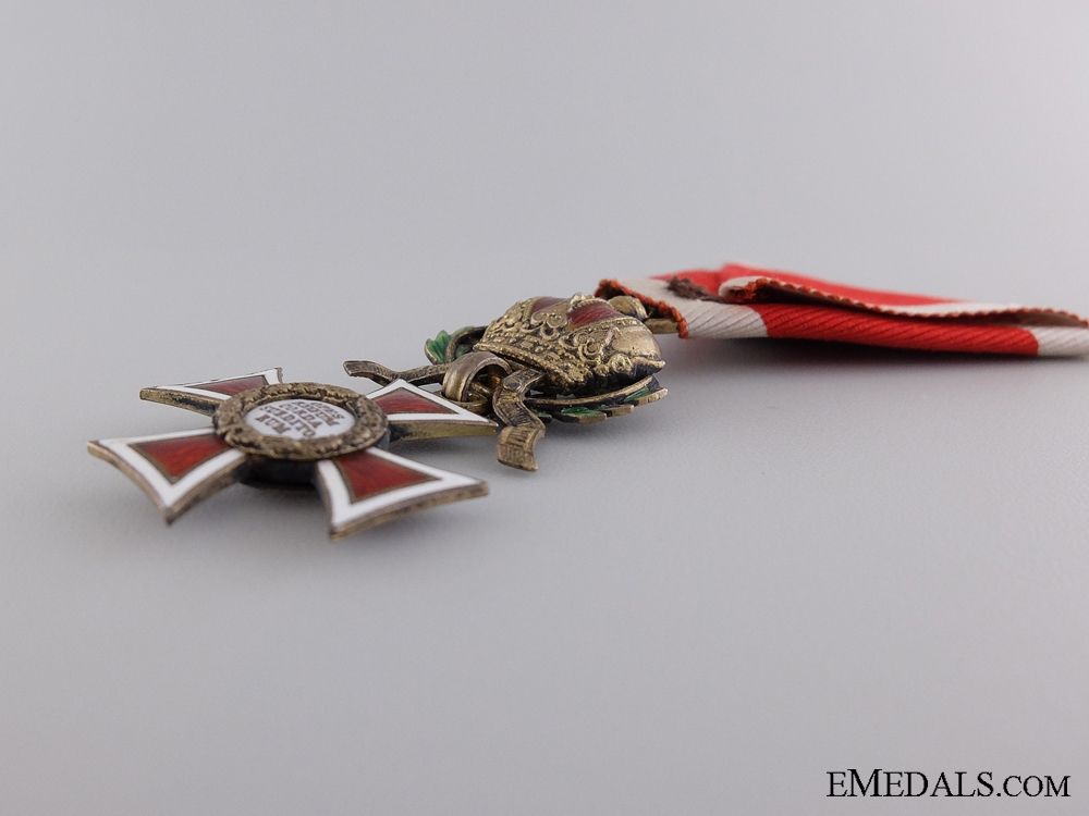 An Austrian Order of Leopold with War Decoration