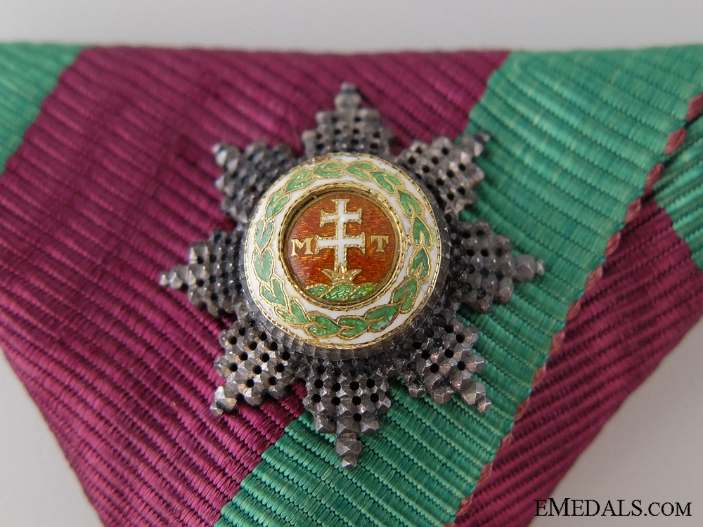A Order of St. Stephen in Gold with GC Klein Decoration