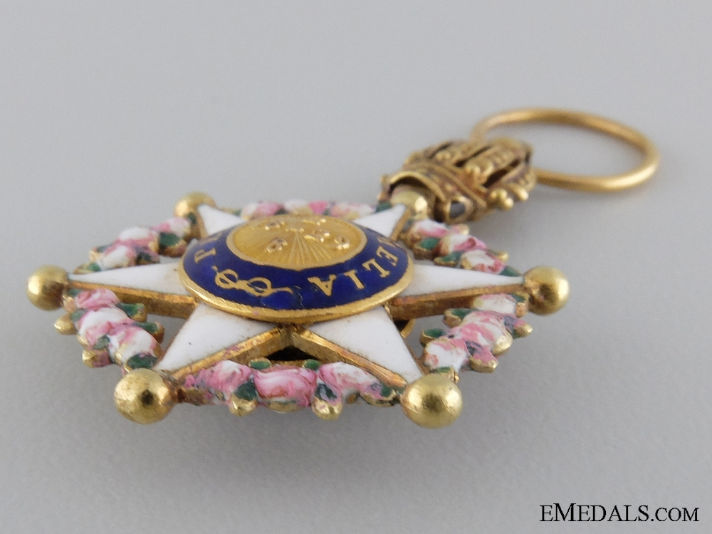 A Fine Gold & Reduced Sized Brazilian Order of the Rose