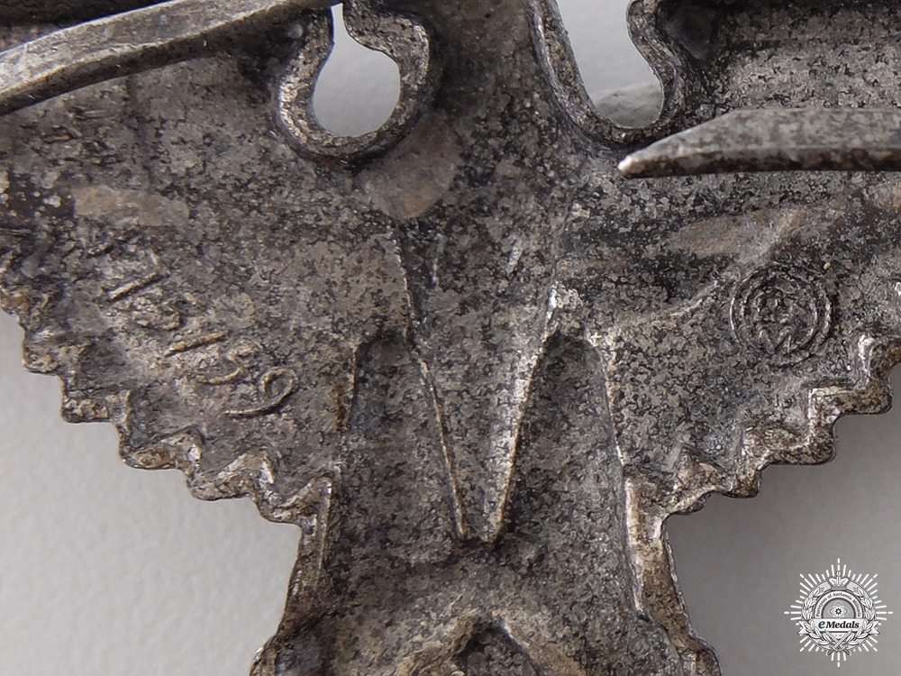 An SS Visor Cap Eagle; RZM Marked