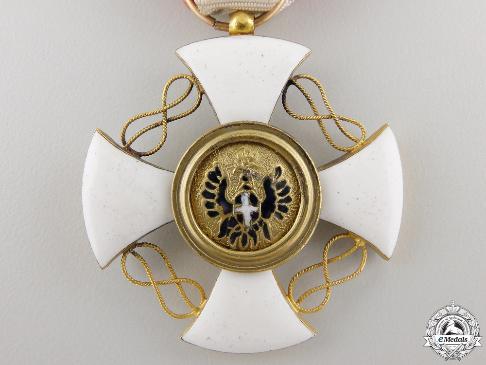 An Italian Order of the Crown in Gold; Knight's Cross
