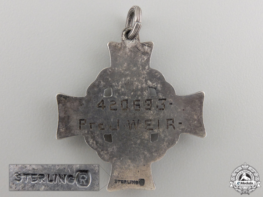 A First War Memorial Cross to the 43rd Canadian Infantry; KIA