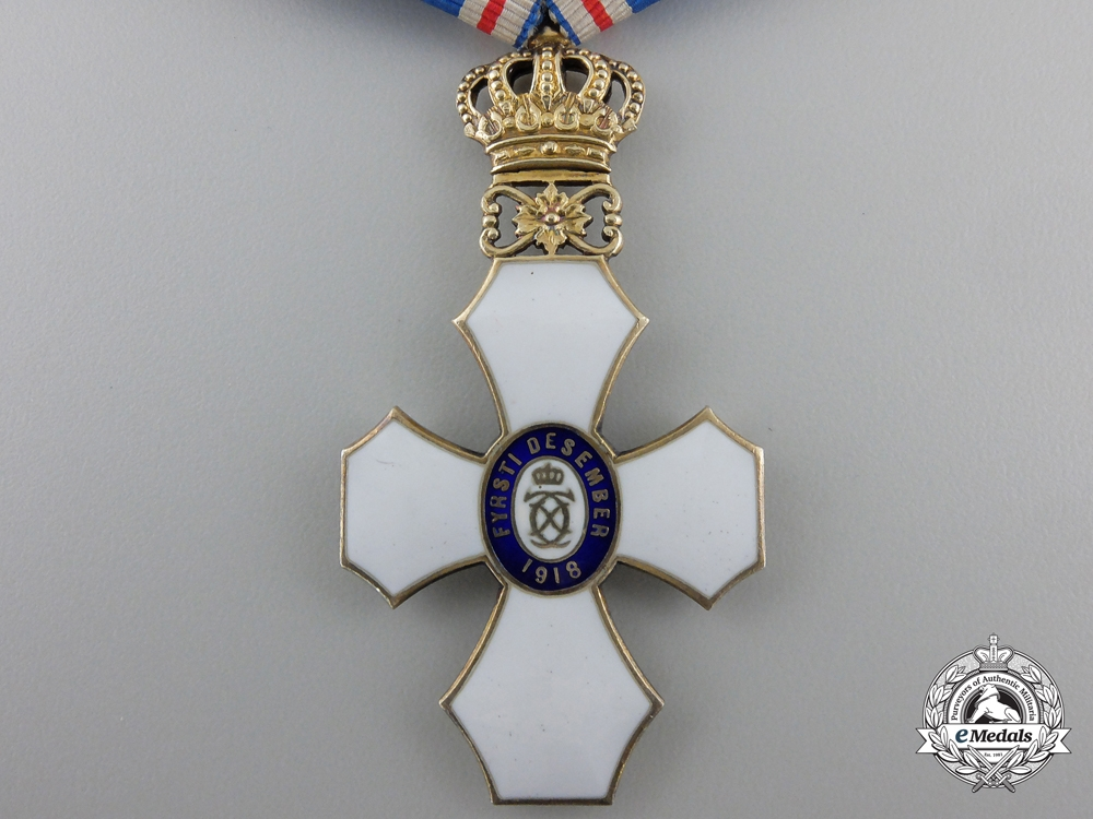 An Icelandic Order of the Falcon; Type I with Royal Crown (1921-1944)