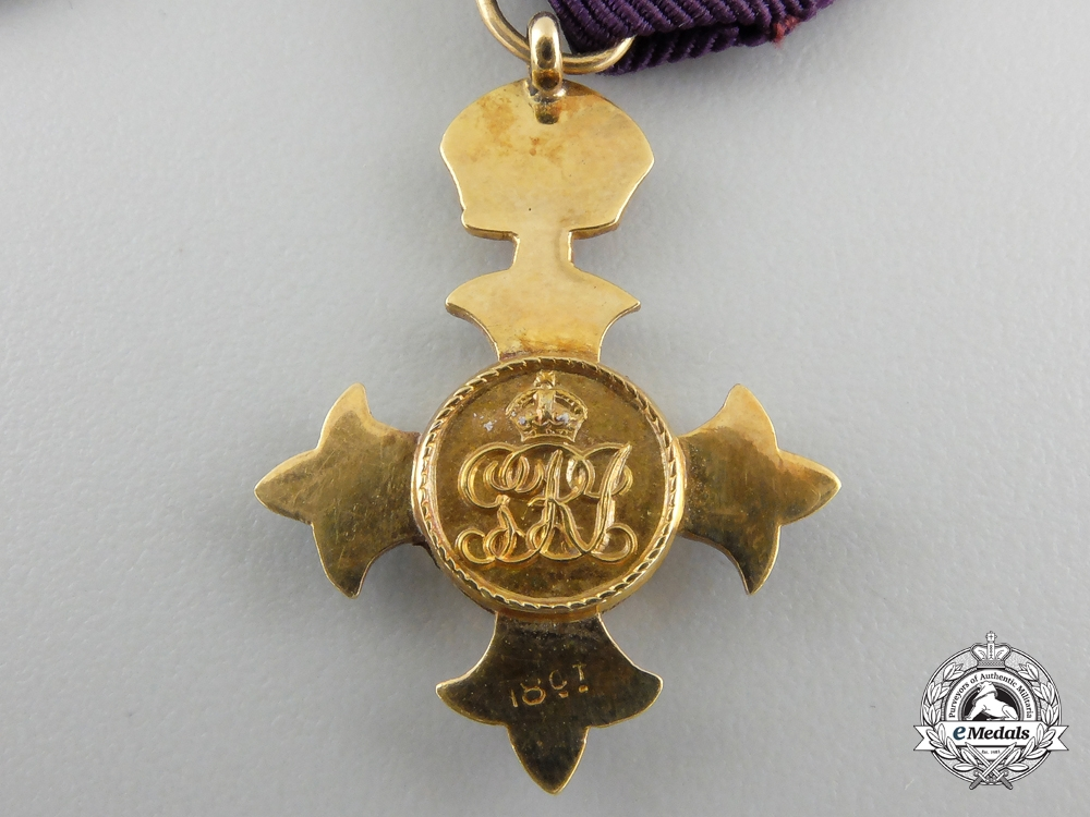 A Gold Order of the British Empire Miniature Group with Case