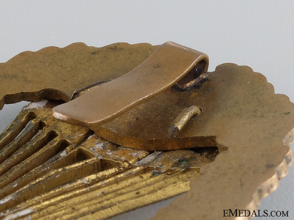 A Rare WWII Hungarian Master Parachutist's Breast Badge