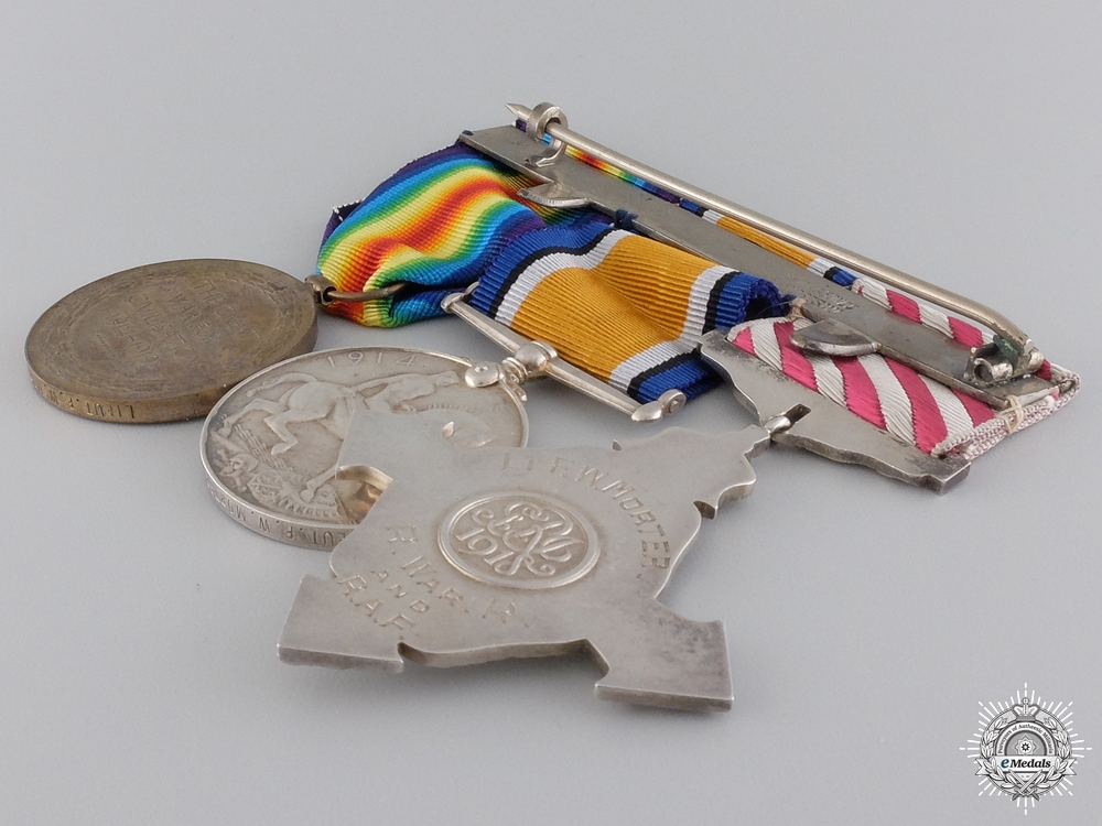 A Scarce Great War Air Force Cross Group to No. 55 Squadron