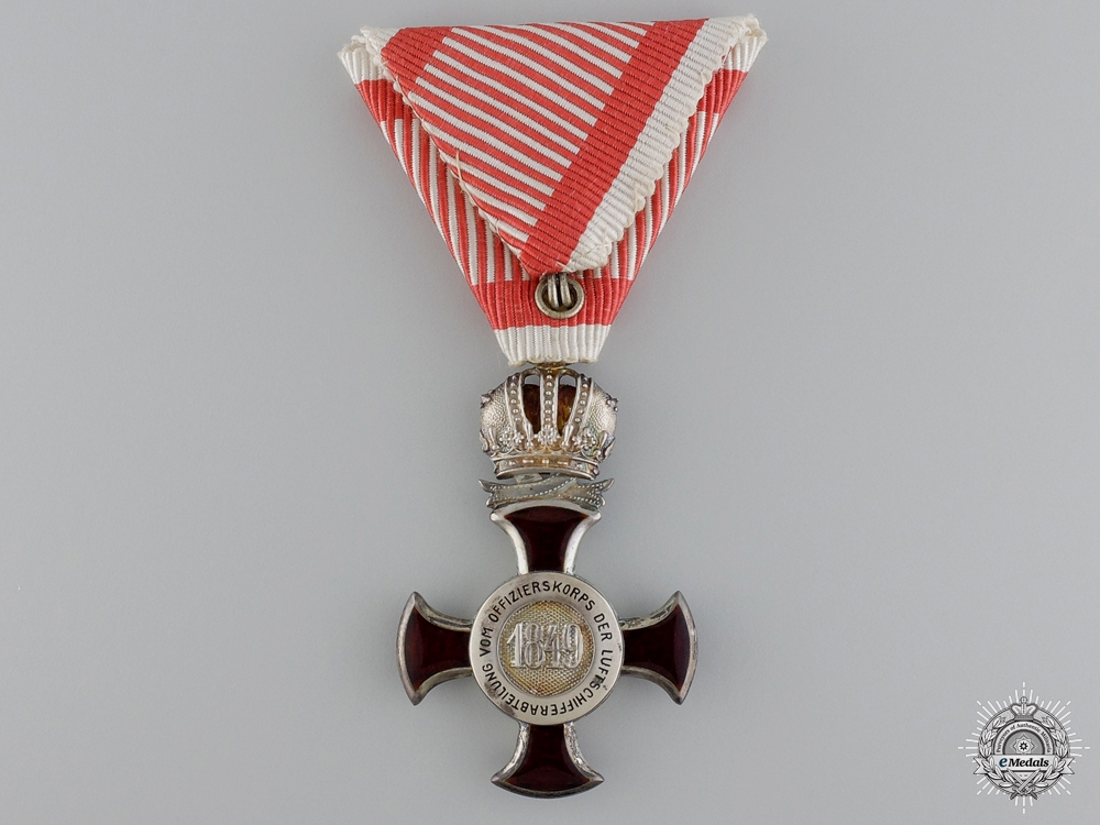 An Austrian War Merit Cross for Officer's of the Airship Division