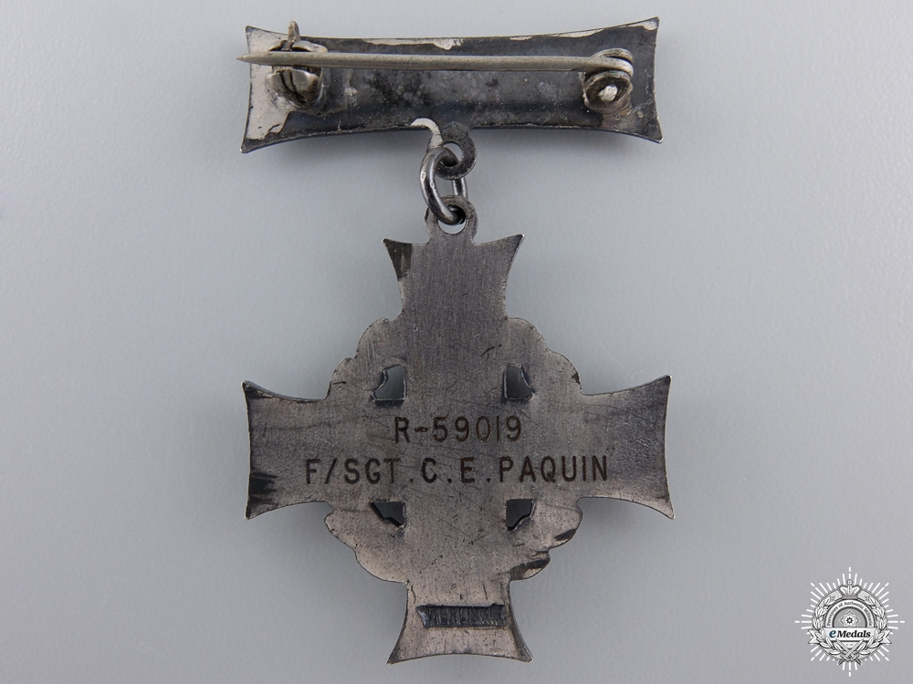A WWII Memorial Cross Group to Flight Sergeant Charles E. Paquin