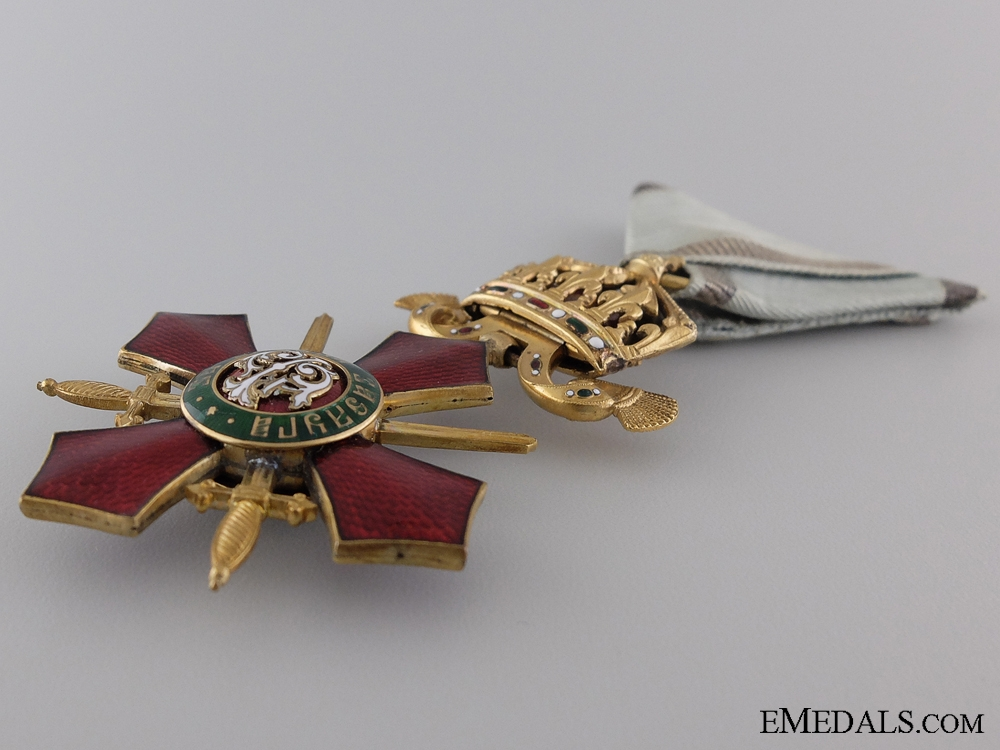 A Bulgarian Order of Military Merit; Officer's Cross Fourth Class