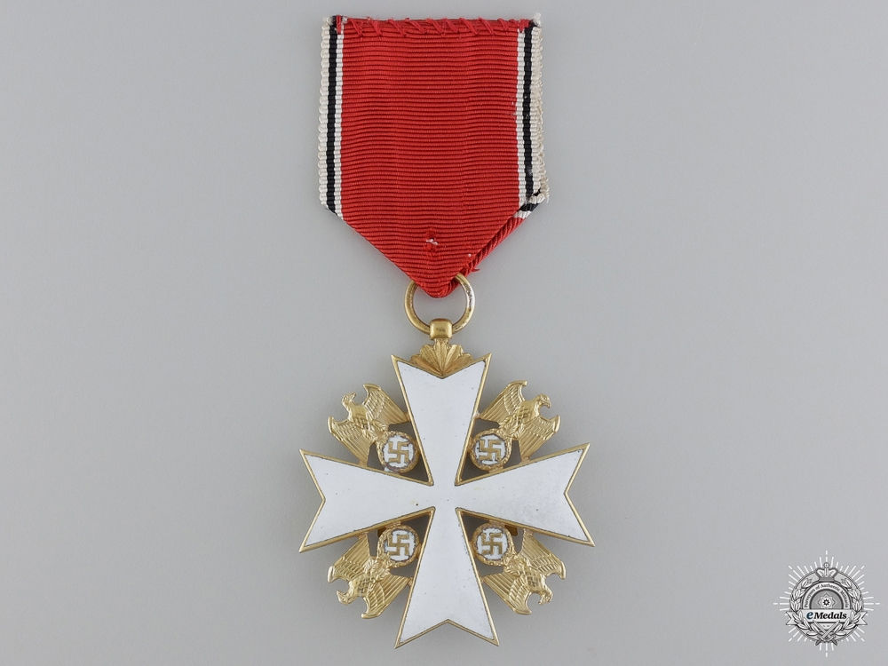 A Cased German Eagle Order with Swords; Third Class Cross
