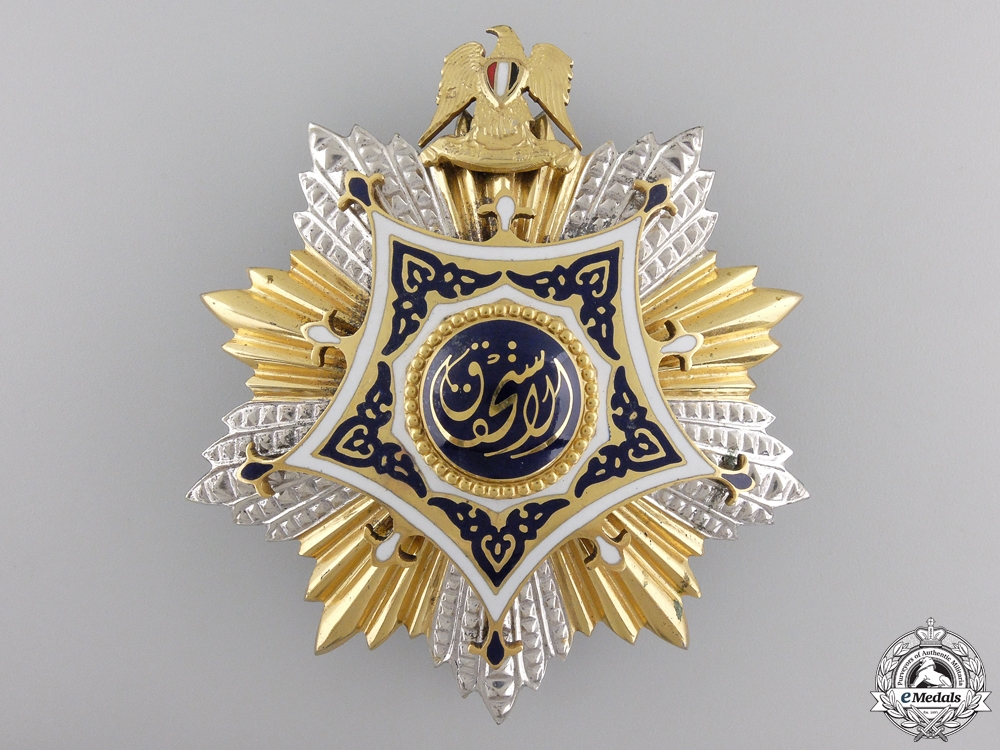 A 1953-1972 Egyptian Order of Merit; Grand Cross  by Bichay