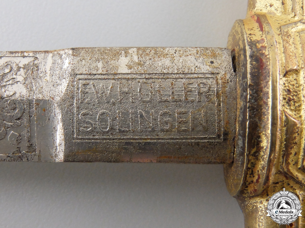A Royal Romanian Army General's Dagger by F.W. Holler Solingen