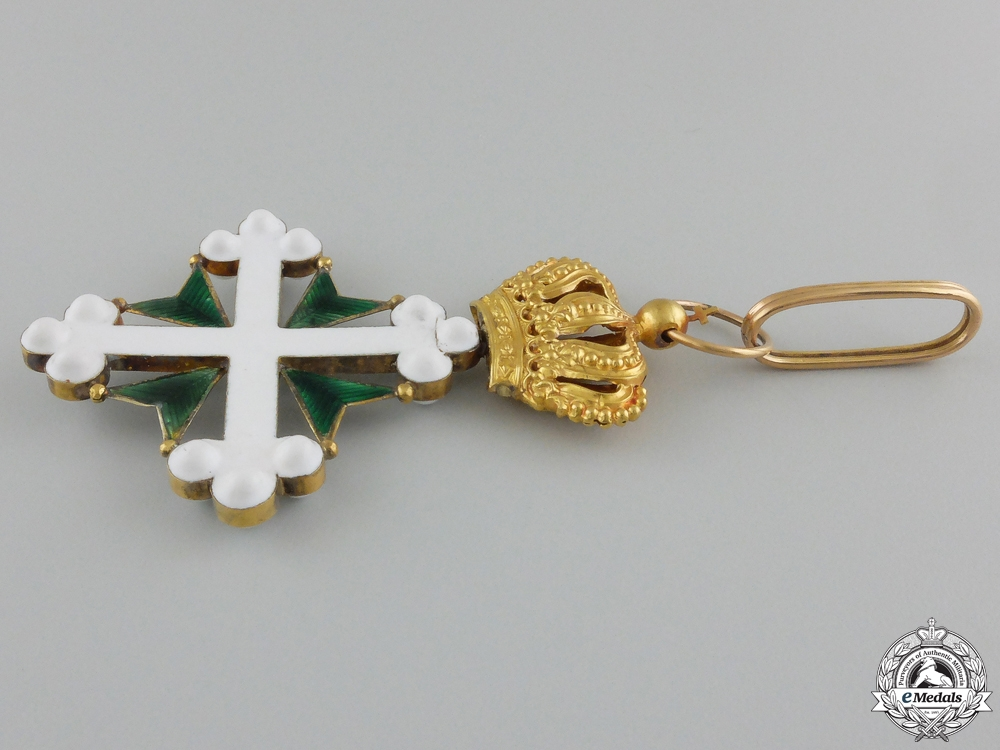 An Italian Order of St. Maurice and St. Lazarus in Gold; 2nd Class