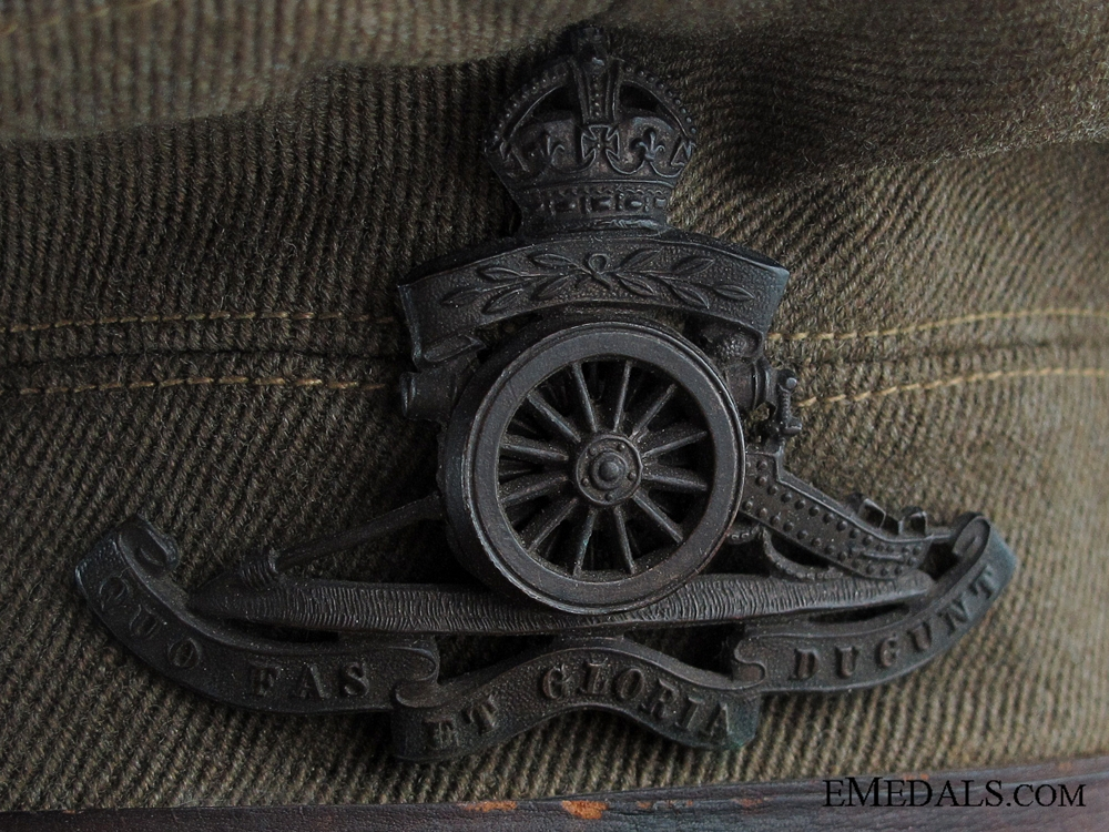 A WWI Royal Artillery Officer's Peaked Service Cap