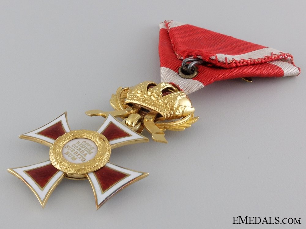 A Gold Order of Leopold to  the Commanding Officer of the 7th K.k. Schutzen Regiment