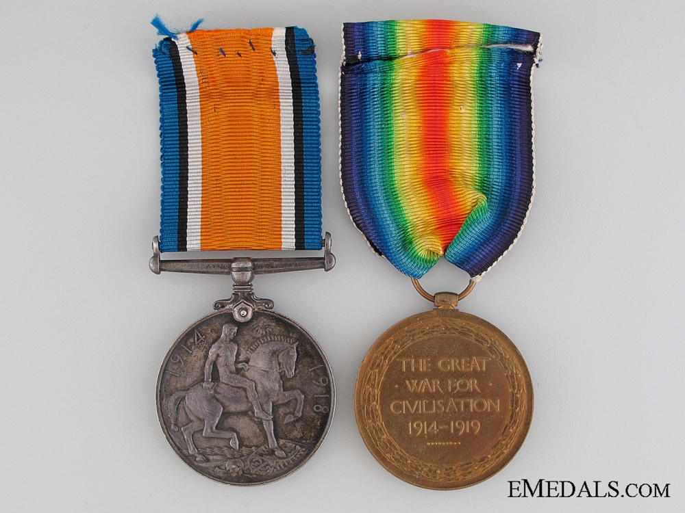 A WWI Pair to the Canadian Army Service Corps