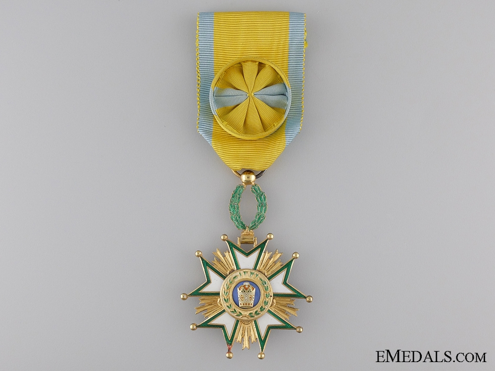 A French Made Order of the Crown of Iran; Officer's Set