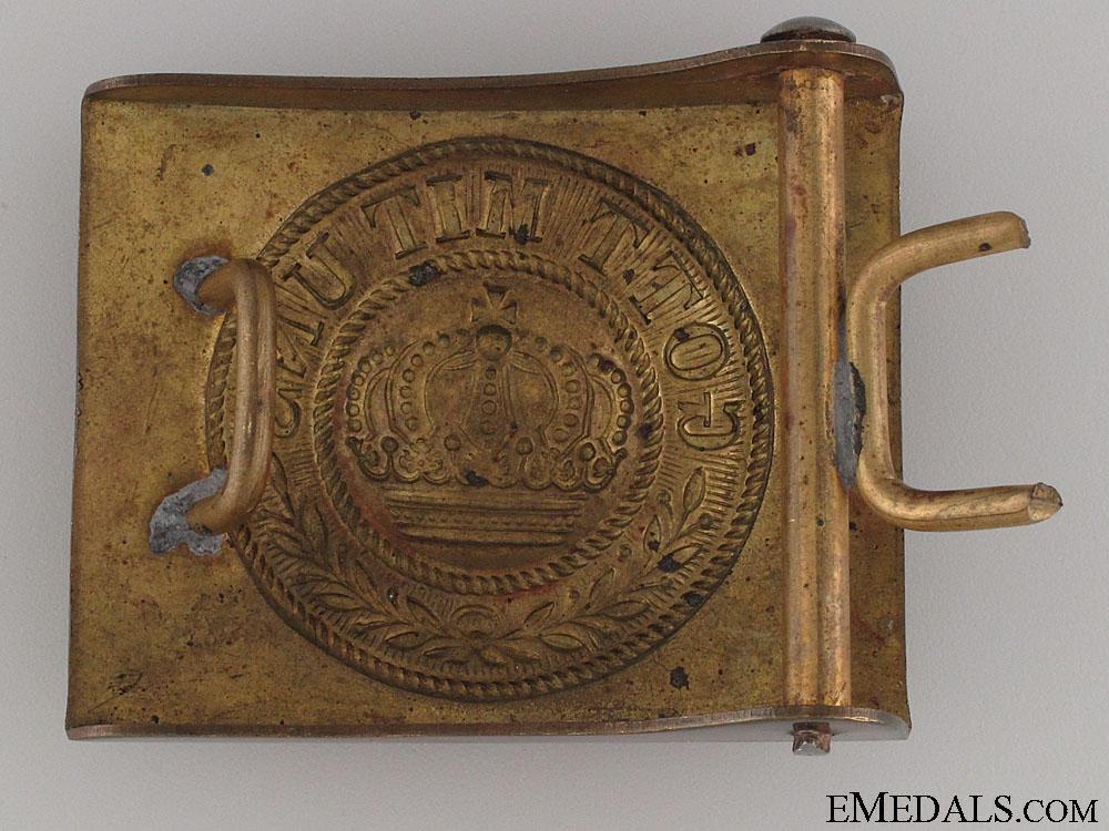 An Early EM/NCO's Prussian Solid Brass Buckle