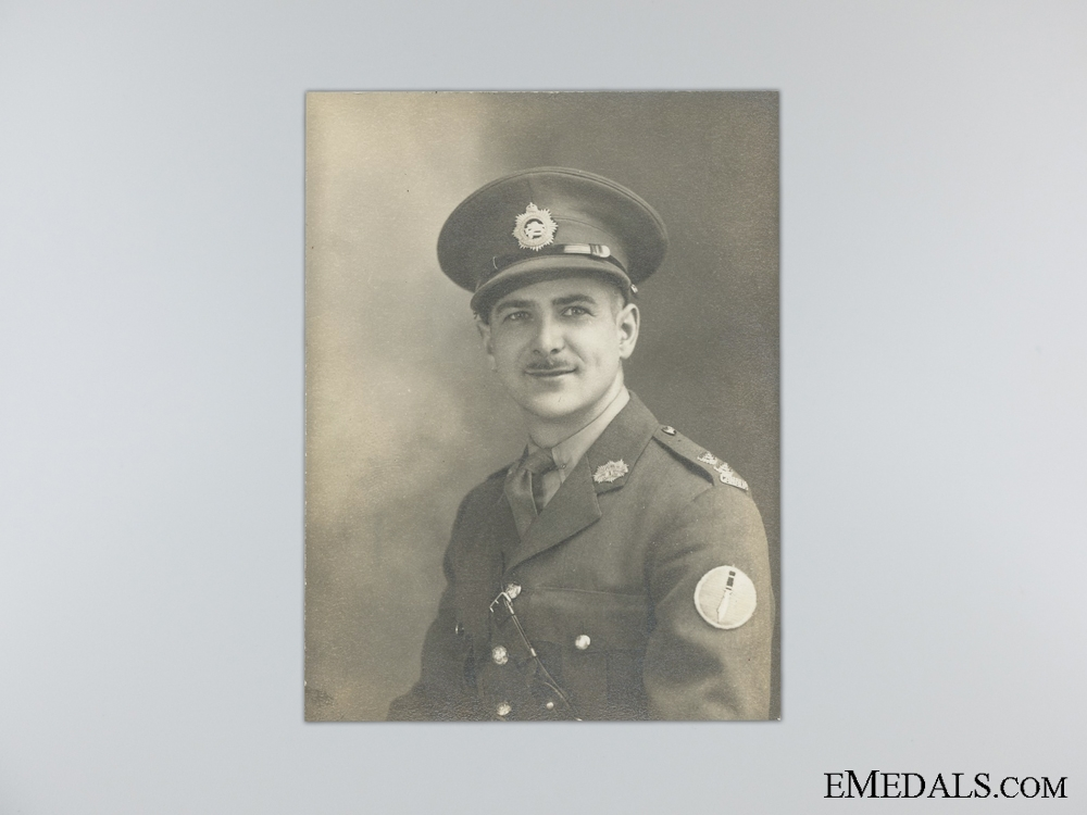 WWII Canadian Group to Captain Gilbert of the Midland Regiment