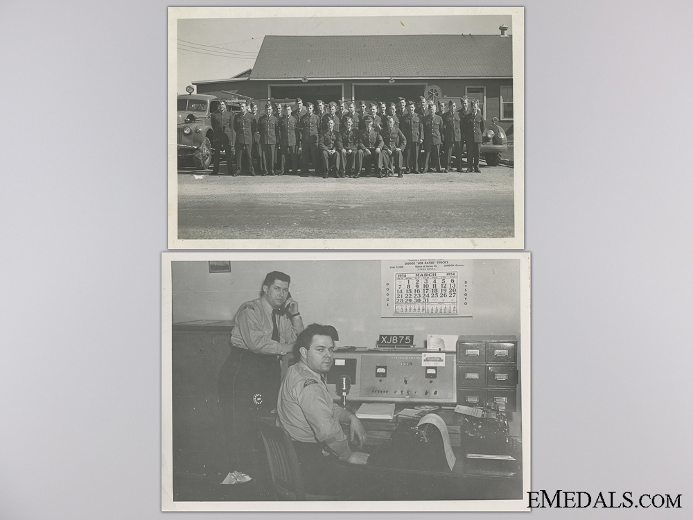 A RCAF & OPP Long Service Medal Group to Corporal McKillop