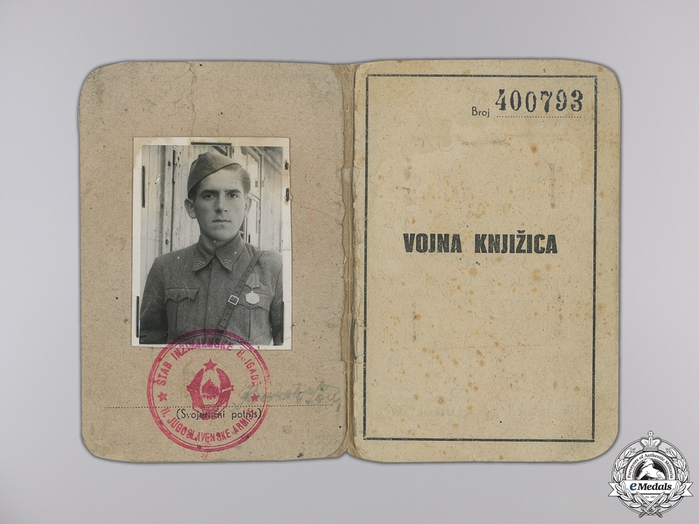 A 1941 Yugoslavian Partisan's Decoration with Documents