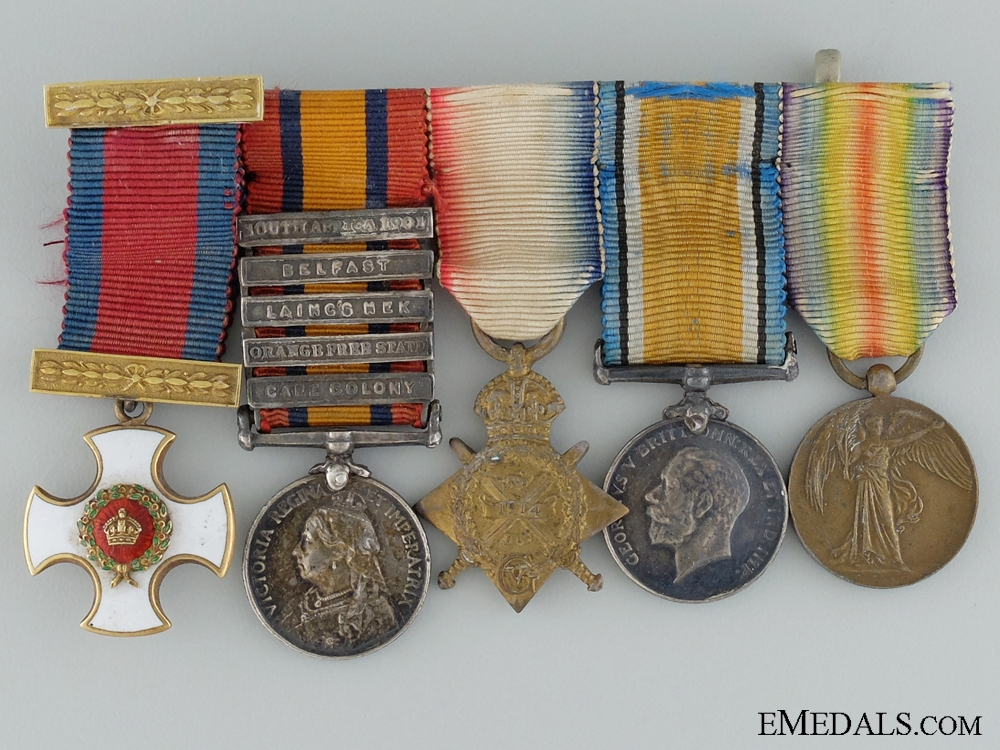A Great War D.S.O. Group of Five Awarded to Lieut. Colonel Crosse