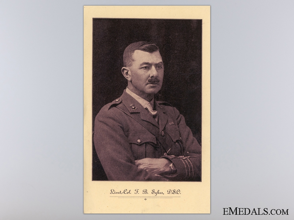 The Personal Wartime Correspondence of Lieut-Col F.B. Sykes DSO NZFA