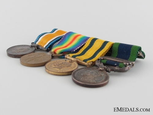 A Territorial Force Miniature Medal Group