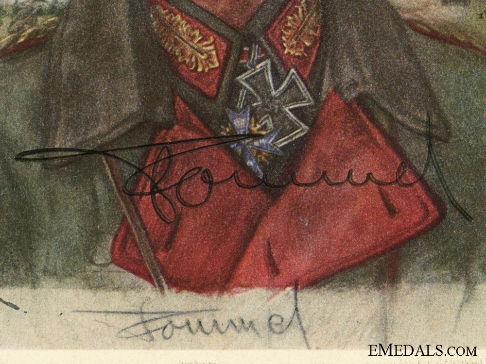 The Signature of Erwin Rommel; Removed from Day Book  consignment #14