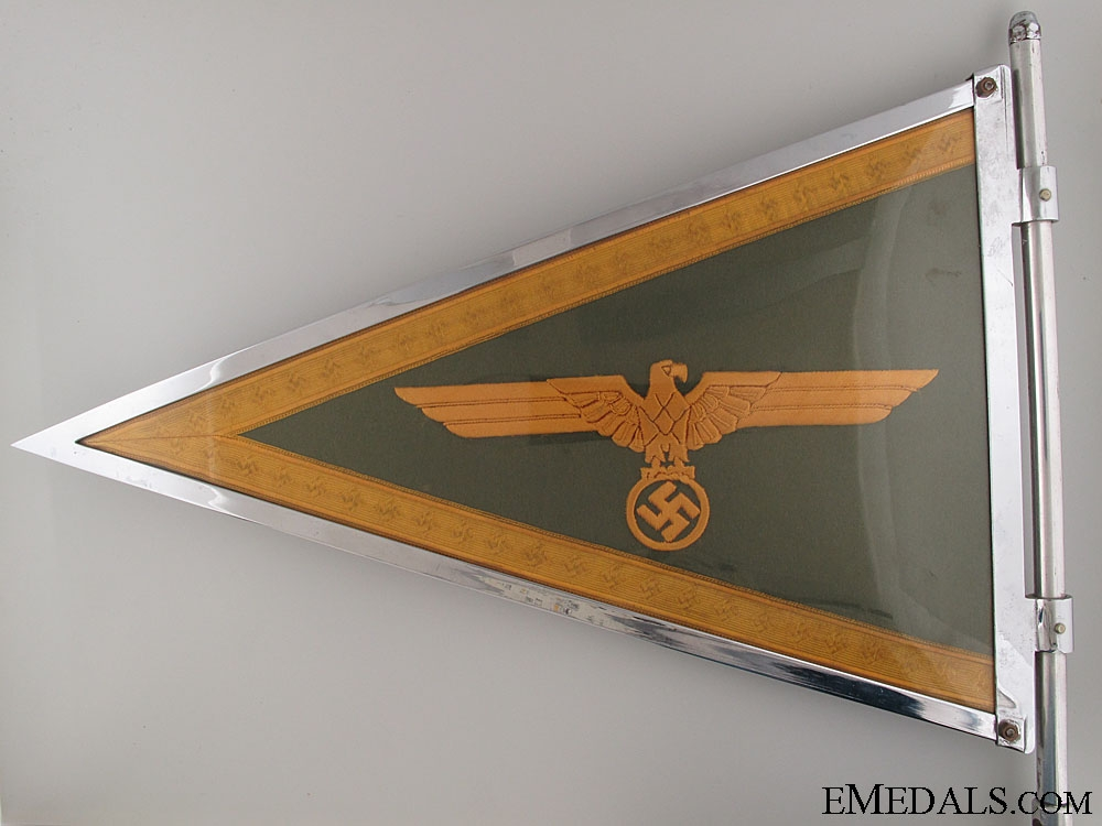 A Mint German Army Generals Car Pennant