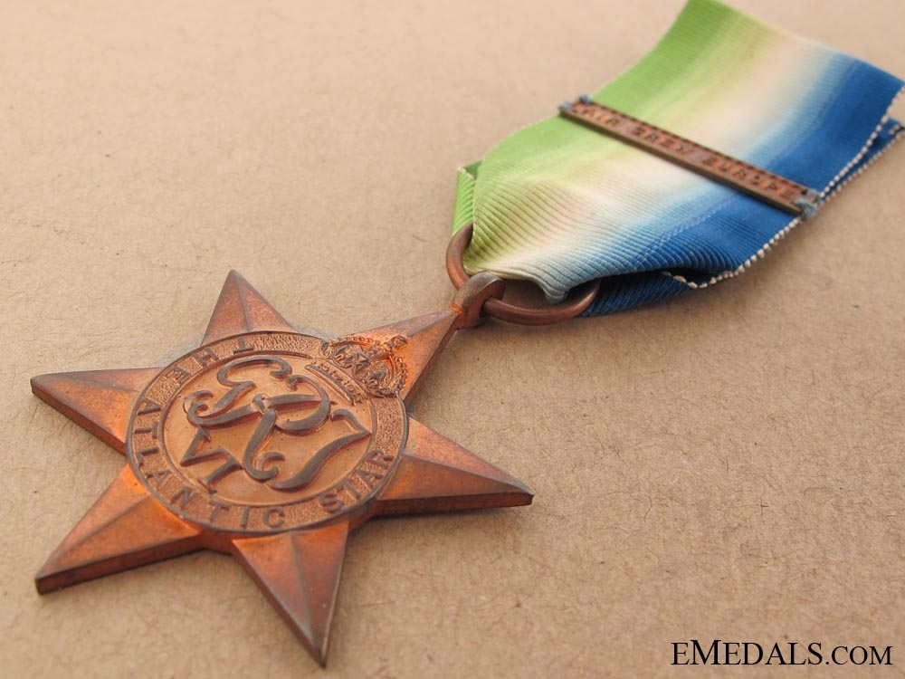 WWII Atlantic Star with Bar