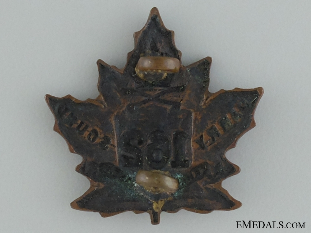 WWI 162nd Infantry Battalion Collar Badge CEF
