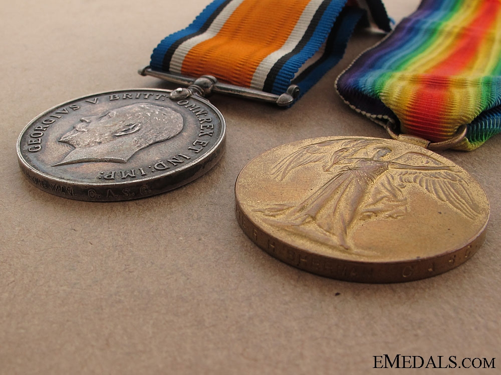 WWI Canadian Pair to Pte.Sherman