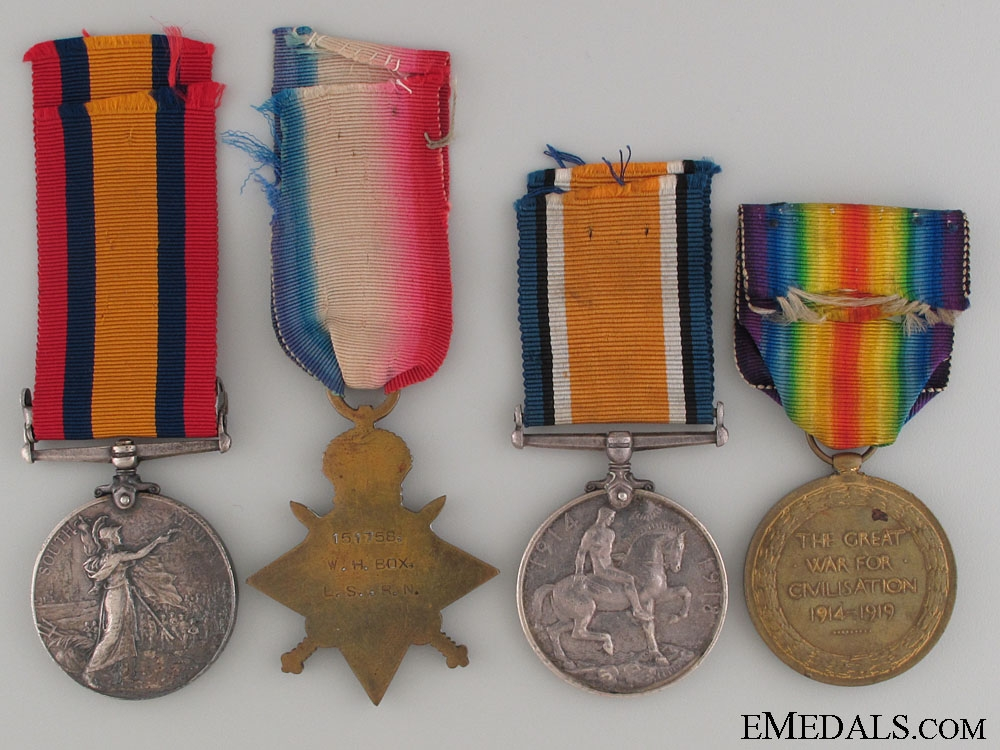 Boer War and WWI Group to the Royal Navy