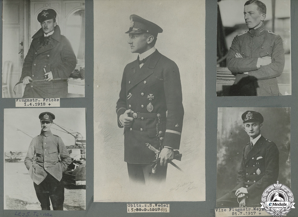 The Fine Imperial German Naval Observer Grouping of Heinrich Blume