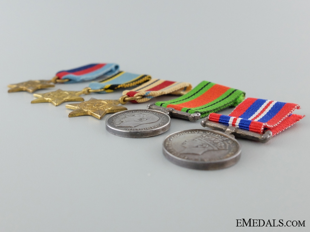 A Second War WWII Miniature Group of Five