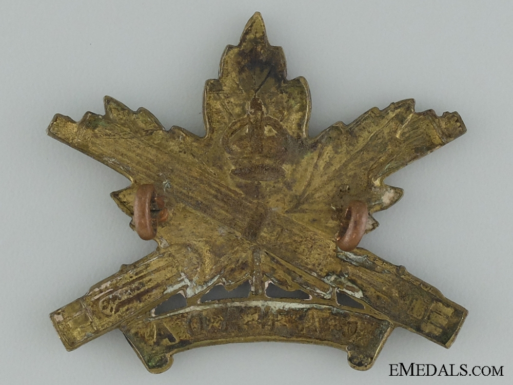WWI Machine Gun Corps Cap Badge; Canadian Issue; 4th Version