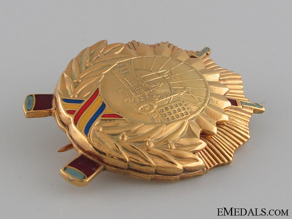 The Order of Socialist Fatherland in Gold