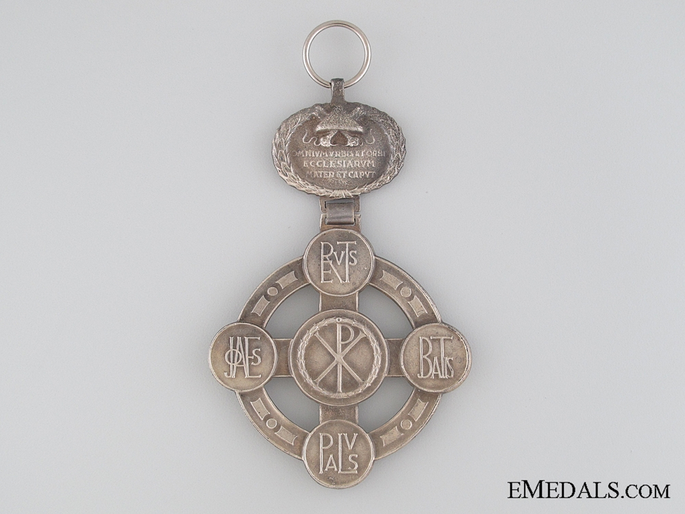 Papal Lateran Cross - Silver Grade