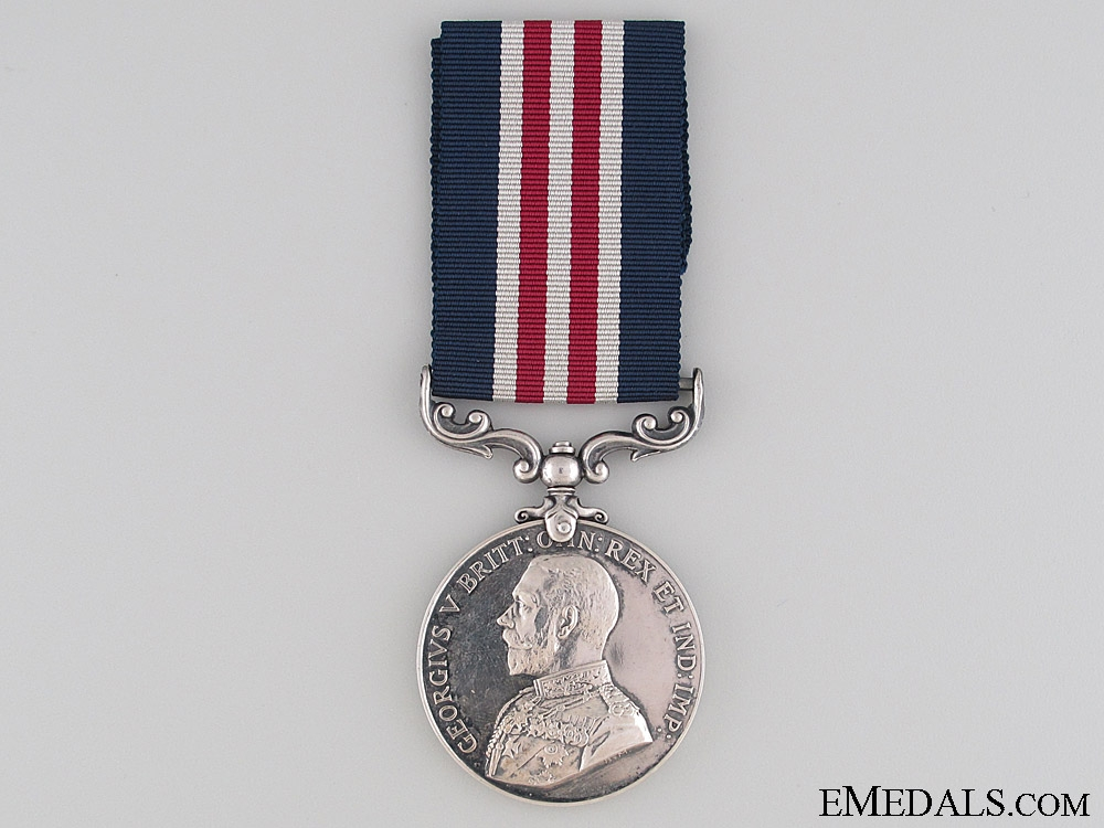 A First War M.M. Awarded to Canadian Field Artillery