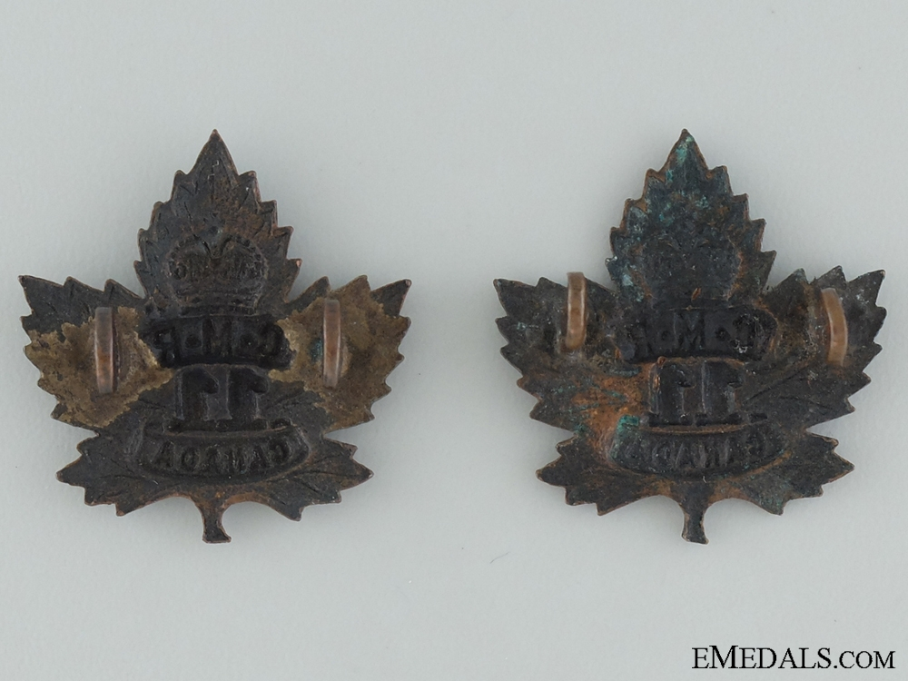 WWI 11th Mounted Rifle Battalion Collar Badge Pair