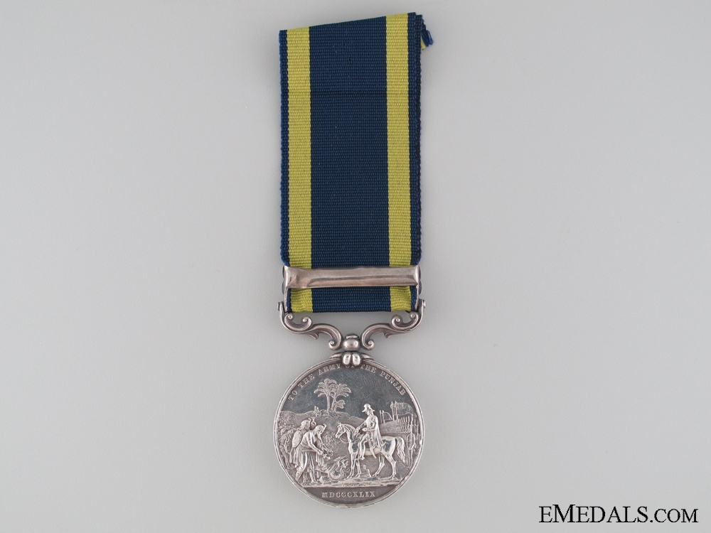 1848-1849 Punjab Medal to the 9th Regiment
