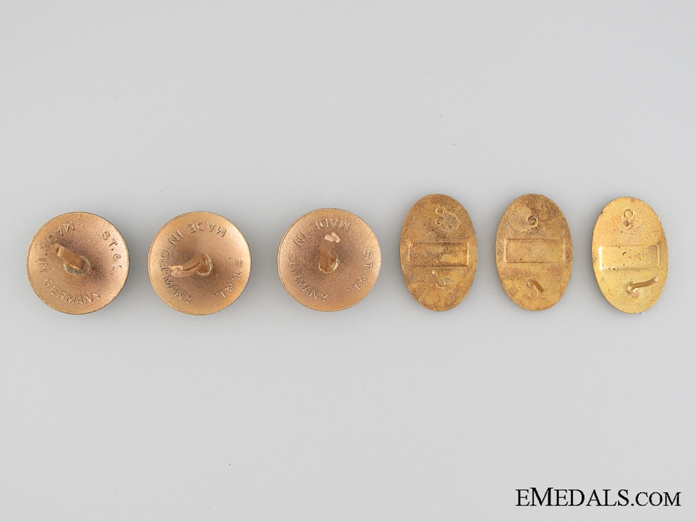 Five WWII Bulgarian Cap Badges