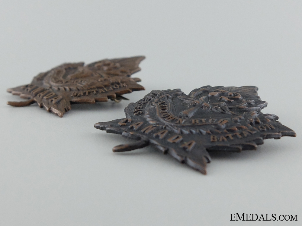 WWI 72nd Infantry Battalion Collar Pair CEF