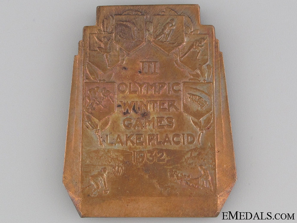 Medal for Lake Placid Olympic Games 1932
