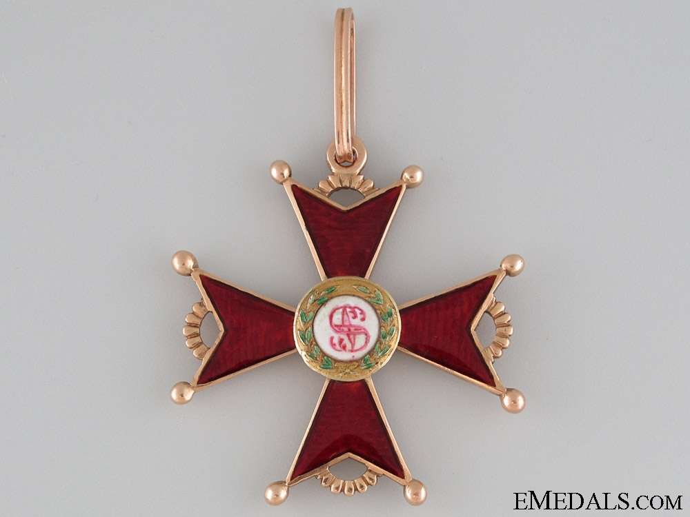 The Order of St. Stanislaus – 2nd. Class in Gold