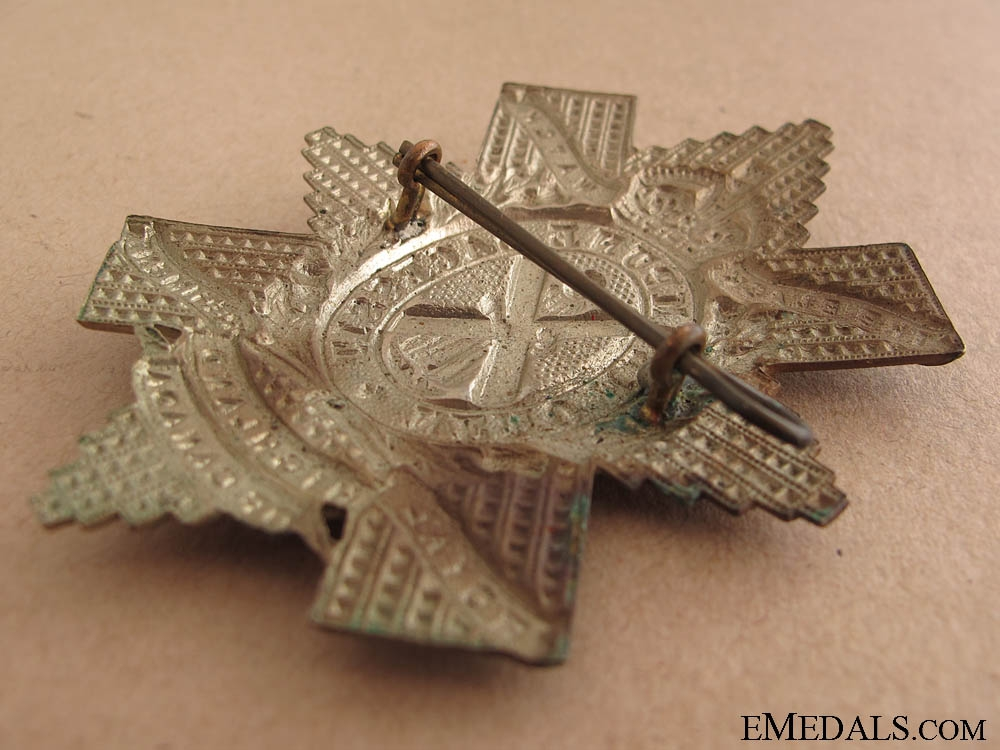 WWII Canadian Black Watch Glengarry Badge
